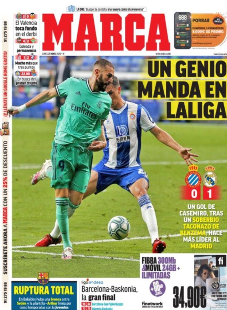De front van Marca.