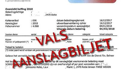 """""""360 euro heffing voor privébezit kippen of paarden"""": opletten voor dit vals aanslagbiljet"""
