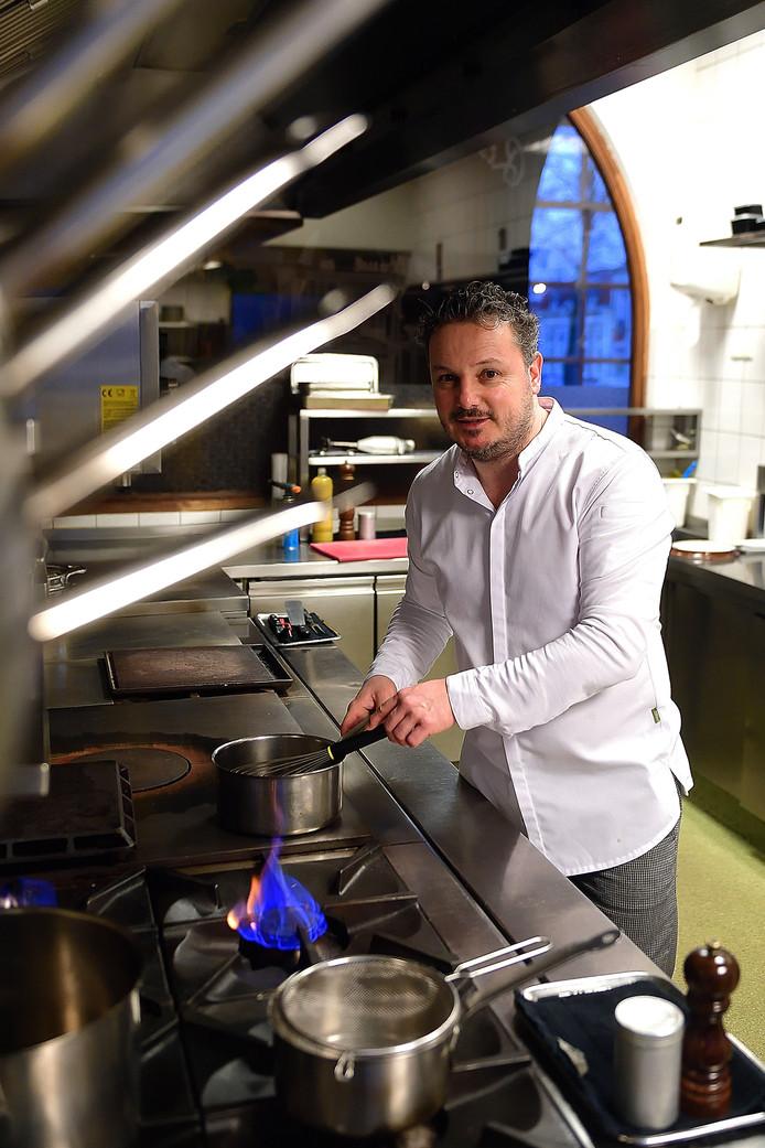 Chef-kok Pieter Bosters in zijn restaurant Mijn Keuken in Wouw.