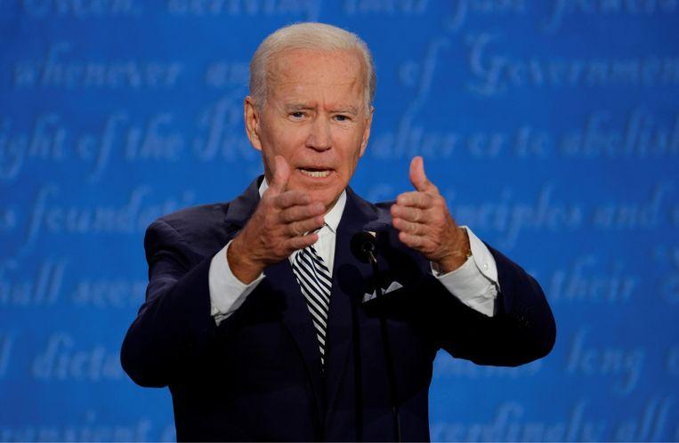 Greet De Keyser: 'Joe Biden zal een overtuigend verhaal moeten neerzetten in het tweede debat, als dat er komt. Tijdens het eerste debat had je soms echt te doen met de man.' Beeld