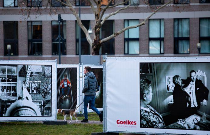 In het Havenpark in Helmond zijn foto's van de 'Goeikes' te zien.