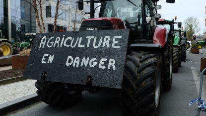 600 landbouwers betogen tegen herverdeling subsidies