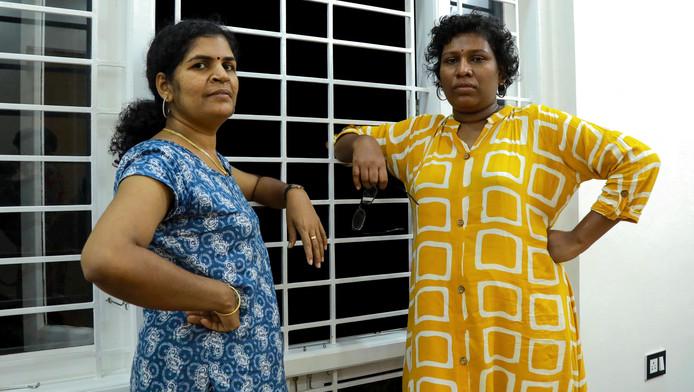 Bindu Ammini (d) et Kanaka Durga (g) sont devenues des icônes du combat pour l'égalité des sexes en Inde. Mais des icônes qui doivent vivre cachées...