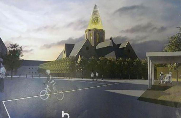 De nieuwe kerk krijgt opnieuw een bakenfunctie met een opvallend verlichte torenspits.