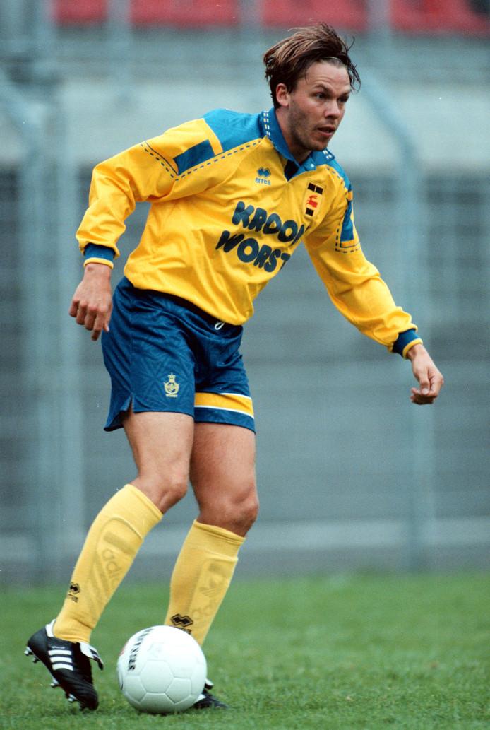 Frank Berghuis in de nadagen van zijn loopbaan, bij Cambuur in seizoen 1998-1999.
