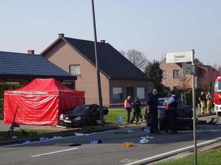 De ravage na het ongeval.