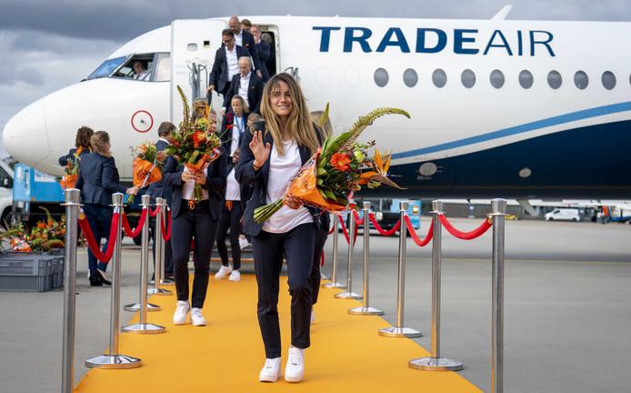 De aankomst op Schiphol.