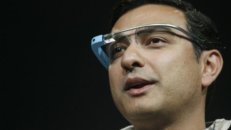 Vic Gundotra met een Google-Glass in 2012, toen nog in dienst van de zoekgigant.