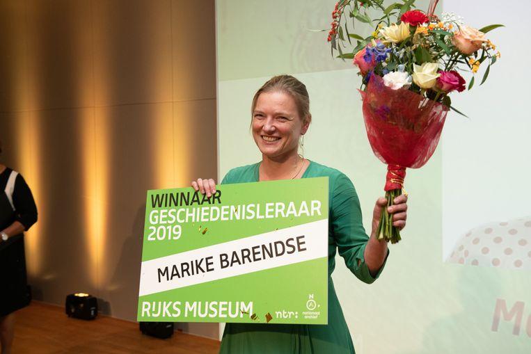 Marike Barendse van het Vossius Gymnasium.  Beeld Wim Kluvers