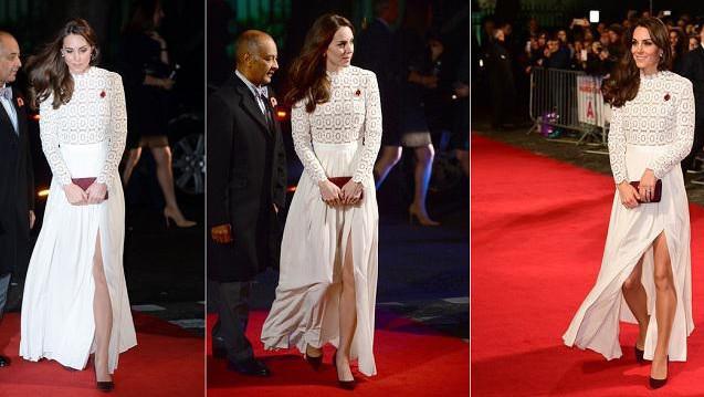 Rode Jurk Met Split.Prinses Kate Verrast Met Jurk Met Sexy Split Van Cultlabel Nieuws