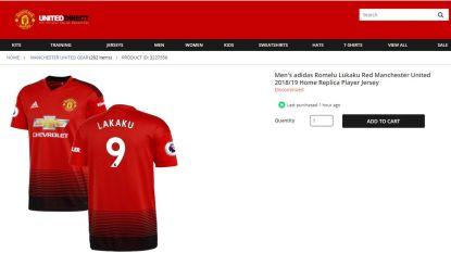 Pijnlijk: naam van Romelu Lukaku verkeerd gespeld in webshop Manchester United