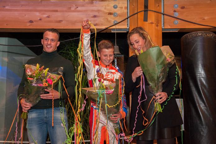 Sam Ligtlee, Robert de Haan en Ellis Ligtlee werden tijdens de nieuwjaarsreceptie van de gemeente Brummen gehuldigd voor sportieve prestaties.