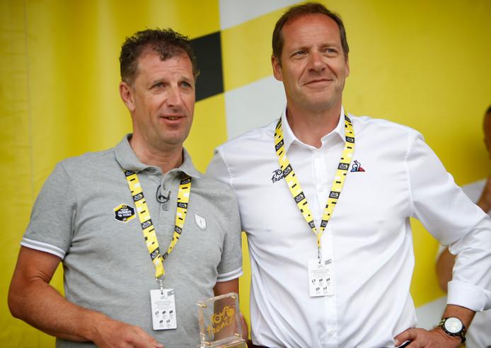 Frans Maassen (l) en Tourdirecteur Christian Prudhomme