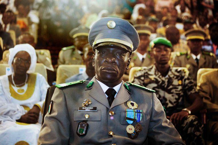 Coup-leider Amadou Sanogo in 2012.  Beeld Reuters