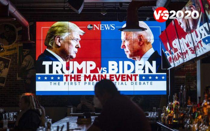 Het eerste verkiezingsdebat tussen Trump en Biden is door de Amerikaanse media ontvangen als een chaotisch en hard gevecht.
