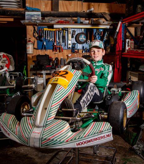 Thijs (10) uit Druten wil de nieuwe Max Verstappen worden: 'Het hardste dat ik heb gereden is 106 kilometer per uur'
