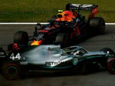 Sainz pakt derde plek na tijdstraf Hamilton, maar moet ook vrezen voor een straf