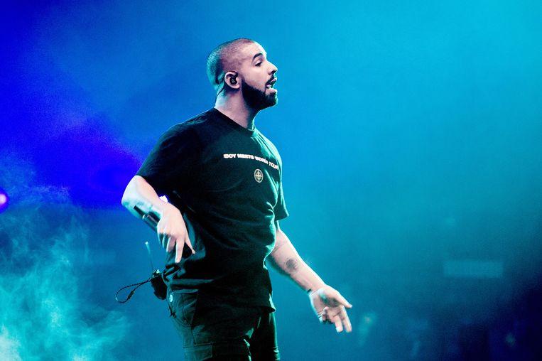 Drake tijdens een concert in de Ziggo Dome.  Beeld ANP Kippa