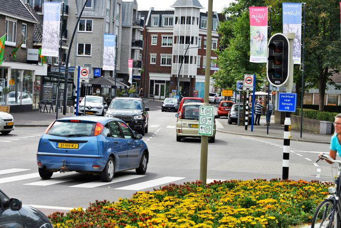 Het centrum in Groesbeek.