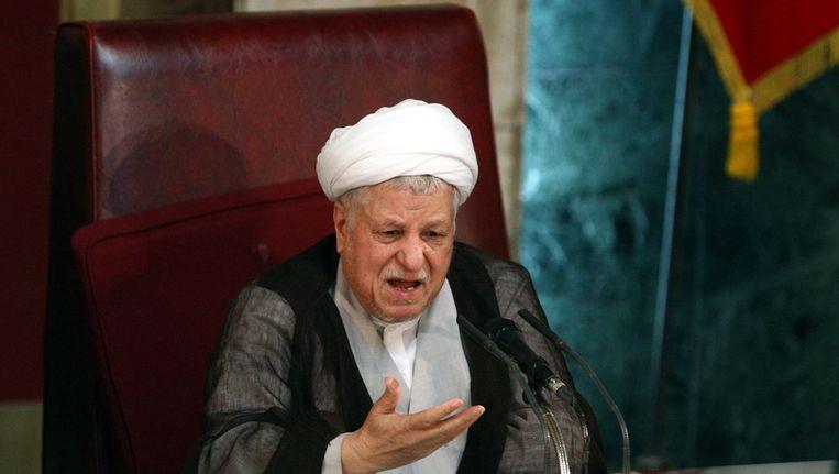 Akbar Hashemi Rafsanjani. Beeld ANP