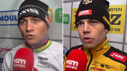 """Van der Poel: """"Seizoen mislukt als ik geen wereldkampioen word"""", Van Aert: """"Kom van te ver om het Mathieu moeilijk te maken op het WK"""""""
