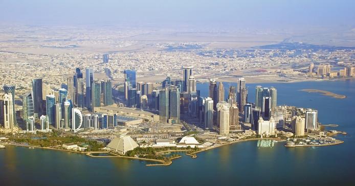 De skyline van Doha, Qatar