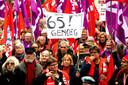 De betogers willen meer investeringen in de publieke sector en een eerlijker verdeling van de welvaart