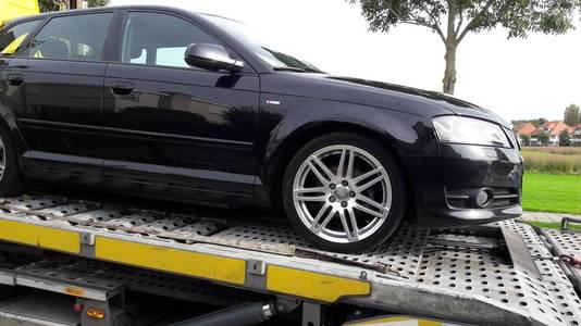 De Audi die in beslag wordt genomen.