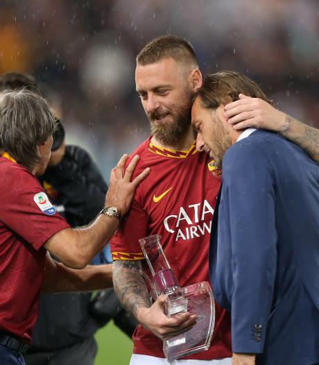 Totti en Roma-fans in tranen bij afscheid De Rossi