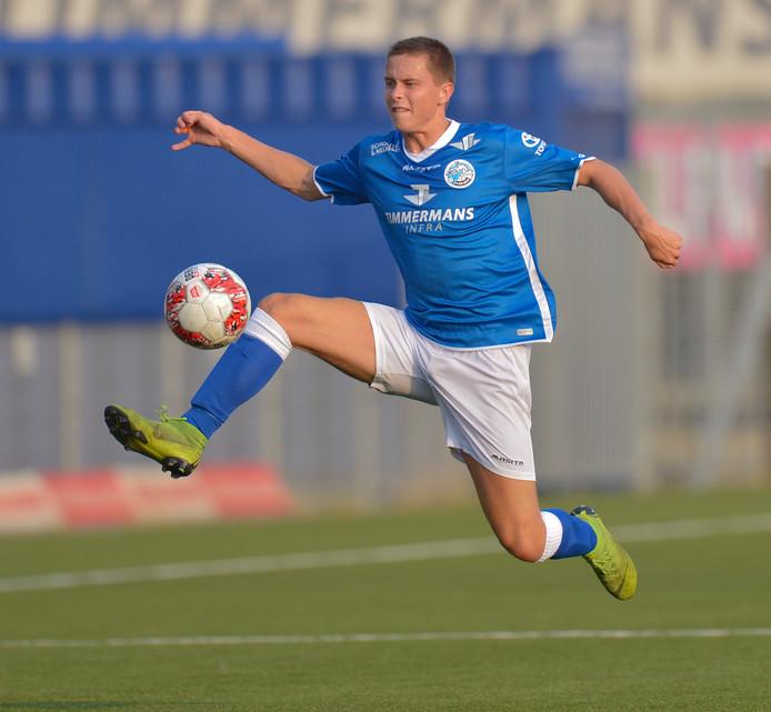 Ringo Meerveld in actie in de verloren oefenwedstrijd tegen Sparta (0-3) van vorige week.