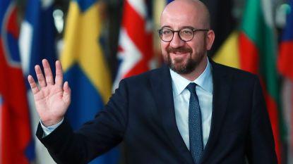 Het regent felicitaties voor Charles Michel