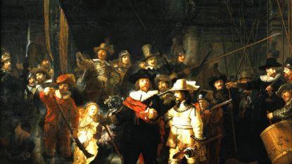 """""""Nachtwacht"""" van Rembrandt wordt voor oog van publiek gerestaureerd"""