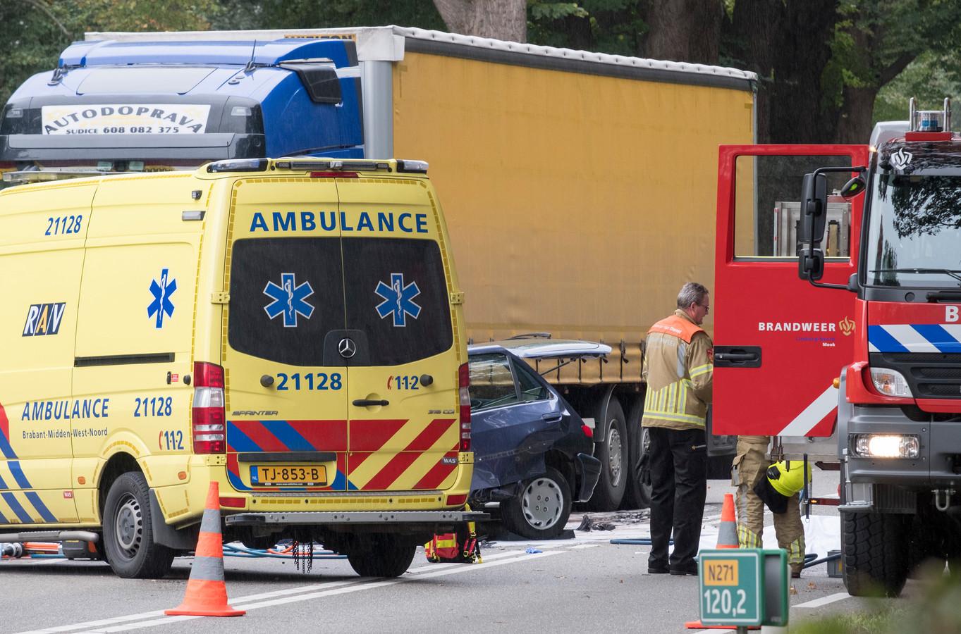 Ongeval op de N271 in Plasmolen.