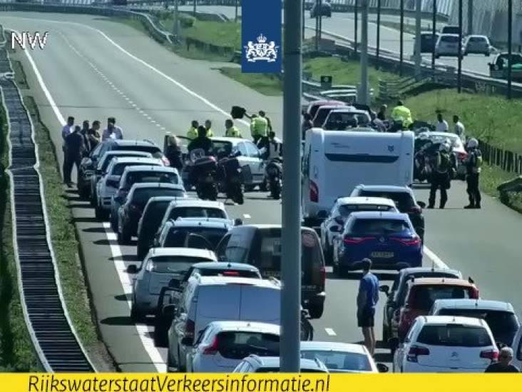 Ongeluk met motorrijder op A2 bij Eindhoven