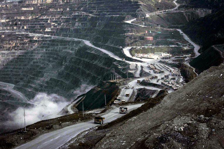 De Grasberg-mijn in Indonesië is de grootste goudmijn in Indonesië. Beeld EPA