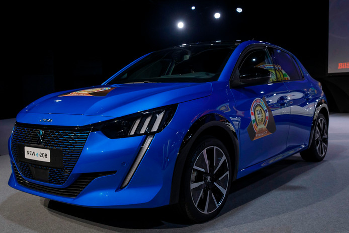 """Peugeot New e-208  Car of the Year 2020 """", during the prize ceremony of the Car of the Year 2020."""