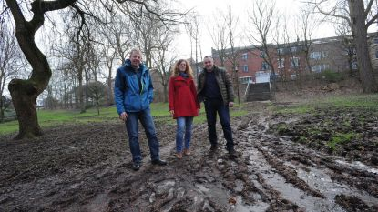 Defecte drainage en cyclocross beschadigen park