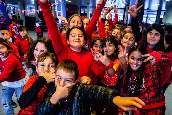 Rood feestje in GO! basisschool Op Het Boseind.