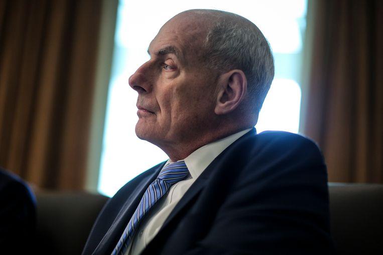 Stafchef van het Witte Huis John Kelly. Beeld EPA