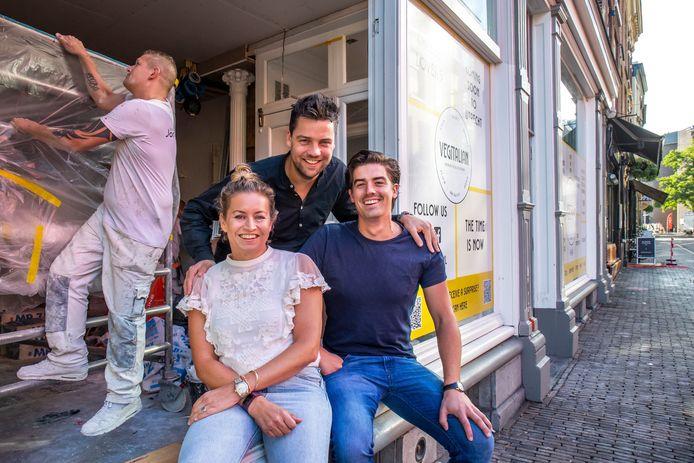 Sippien Baarsma, Wichert van Rijn en Joep van den Bersselaar van Vegitalian.