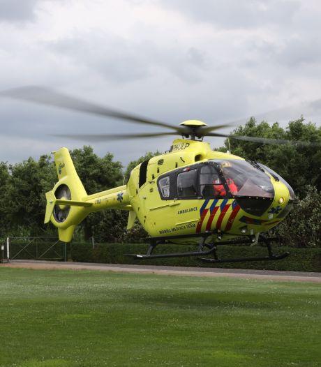 Traumahelikopter bij gewonde in sauna Veenendaal