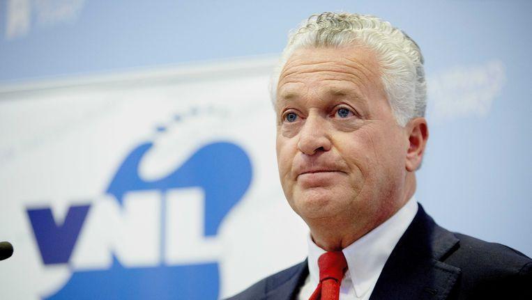 Moszkowicz bij zijn presentatie als lijsttrekker van VNL. Beeld anp