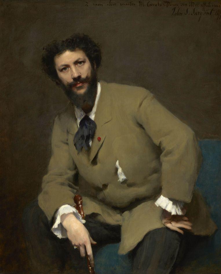 Portret van Carolus-Duran, 1879, John Singer Sargent. Beeld Van Gogh Museum