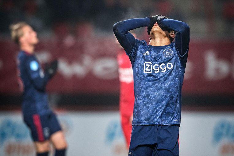 David Neres ziet zijn doelpoging naast gaan Beeld Guus Dubbelman / de Volkskrant