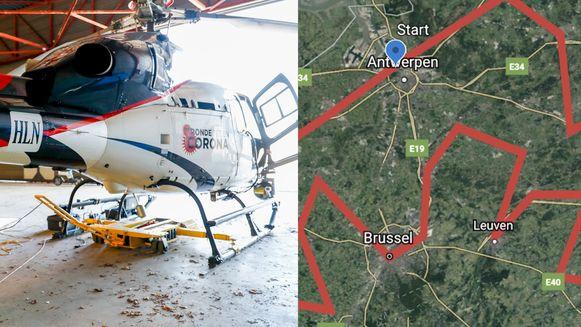Volg onze helikopter op de kaart
