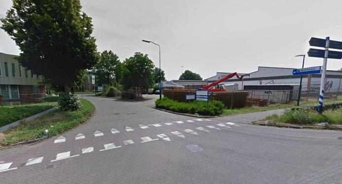 De toegang naar bedrijventerrein Molenakker