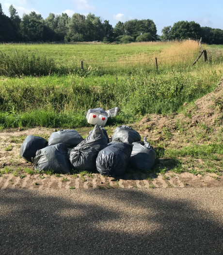 Drugsafval gedumpt in Holtheme