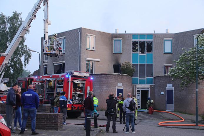 De brand in het appartementencomplex in Veenendaal op archiefbeeld.
