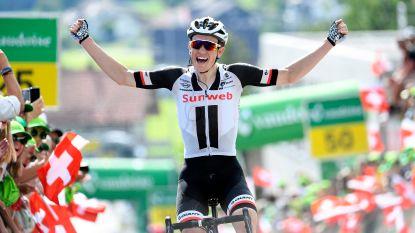 Andersen verteert Alpenreuzen het best en wint koninginnenrit in Zwitserland, Porte nog steviger in de leiderstrui