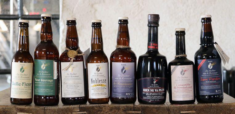 Bieren van brouwerij De Dochter van de Korenaar, allen met een Franse naam.